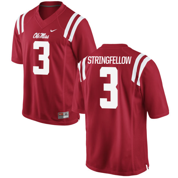 Men's Nike Damore'ea Stringfellow Ole Miss Rebels Replica Red Football Jersey