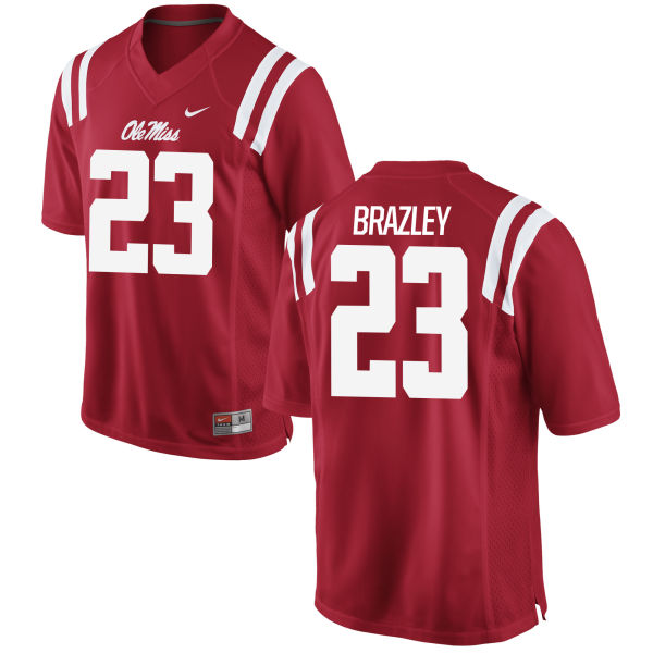 Men's Nike Eugene Brazley Ole Miss Rebels Game Red Football Jersey