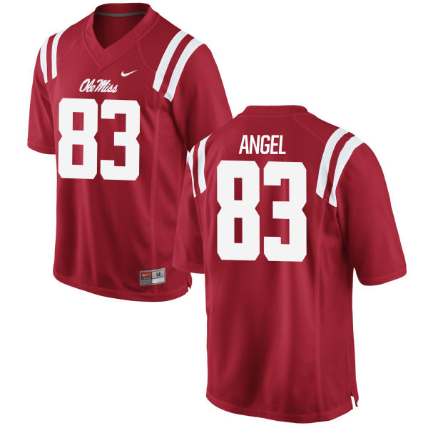 Men's Nike Gabe Angel Ole Miss Rebels Authentic Red Football Jersey