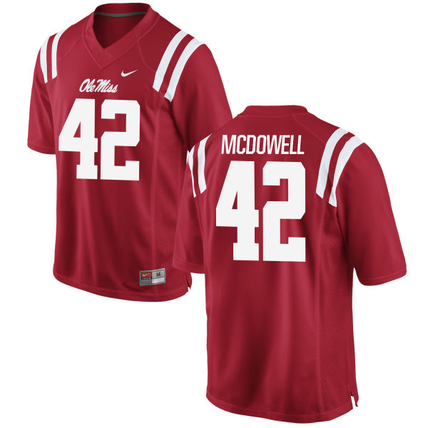 Youth Nike Garrald McDowell Ole Miss Rebels Game Red Football Jersey