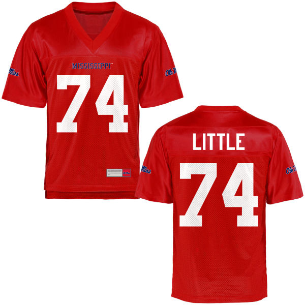 Youth Greg Little Ole Miss Rebels Game Football Jersey Cardinal