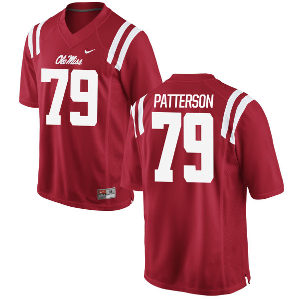 Men's Nike Javon Patterson Ole Miss Rebels Authentic Red Football Jersey