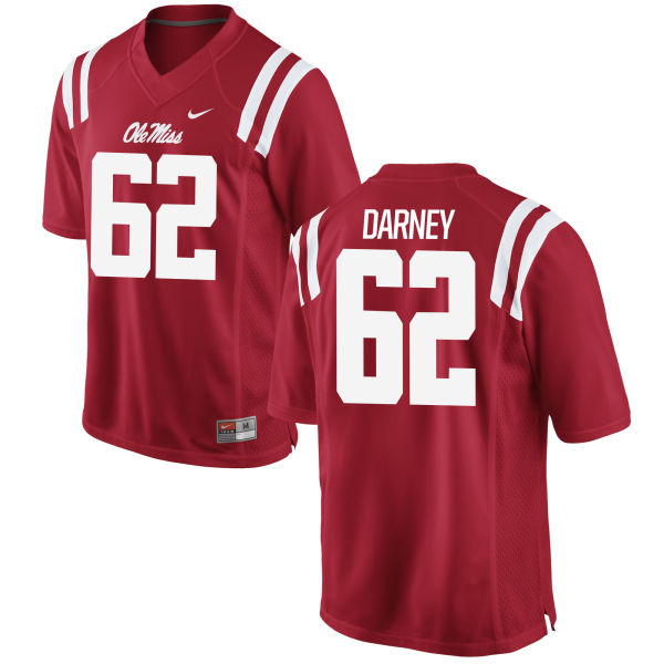 Men's Nike Kamden Darney Ole Miss Rebels Game Red Football Jersey