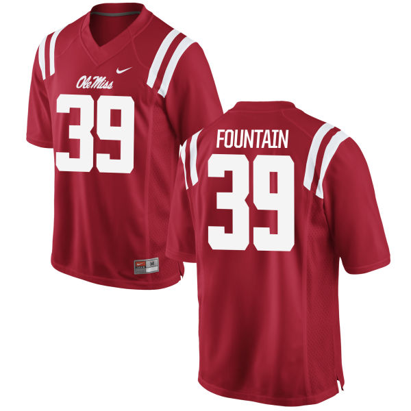 Men's Nike Kweisi Fountain Ole Miss Rebels Authentic Red Football Jersey