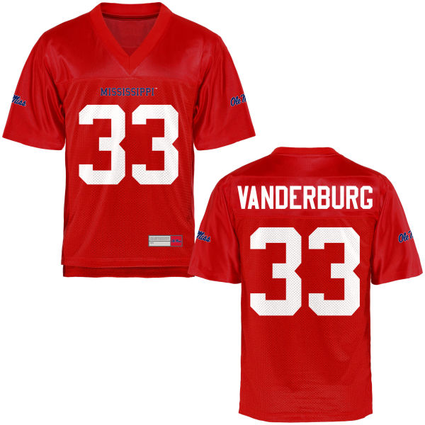 Youth Nathan Vanderburg Ole Miss Rebels Authentic Football Jersey Cardinal