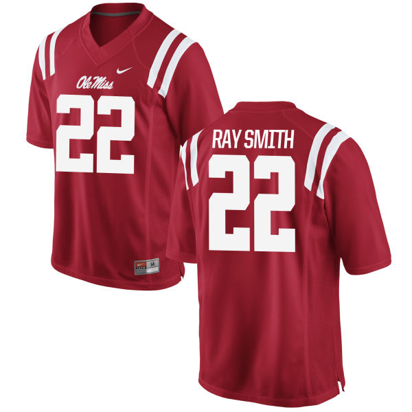 Youth Nike Ray Ray Smith Ole Miss Rebels Game Red Football Jersey
