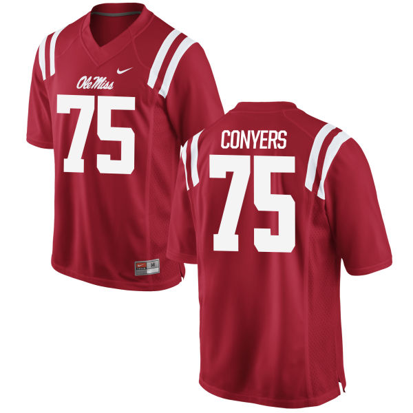 Men's Nike Robert Conyers Ole Miss Rebels Game Red Football Jersey