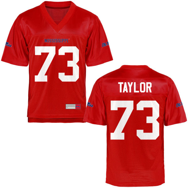 Men's Rod Taylor Ole Miss Rebels Game Football Jersey Cardinal