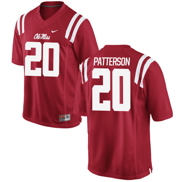Men's Nike Shea Patterson Ole Miss Rebels Game Red Football Jersey