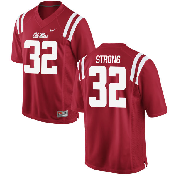 Men's Nike Temario Strong Ole Miss Rebels Authentic Red Football Jersey