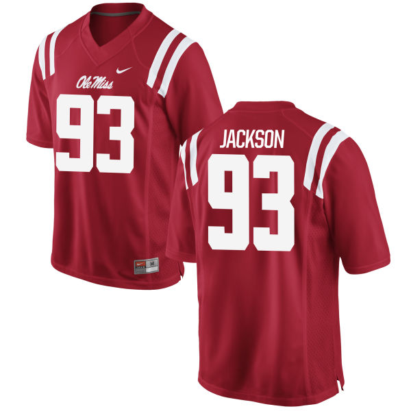 Men's Nike Tyler Jackson Ole Miss Rebels Game Red Football Jersey