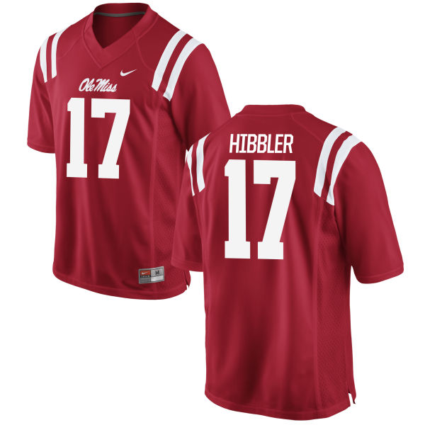 Men's Nike Willie Hibbler Ole Miss Rebels Game Red Football Jersey